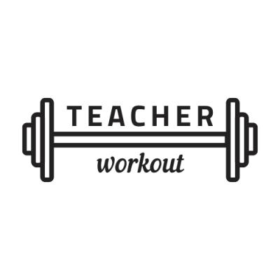Teacher Workout alb negru